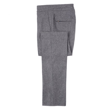 Isaia Soft Flannel Wool Jogger Pants