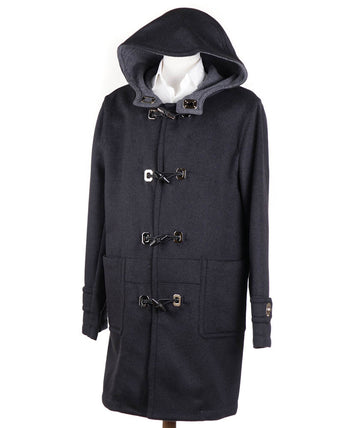 Brioni Cashmere Duffle Coat with Metal Toggles