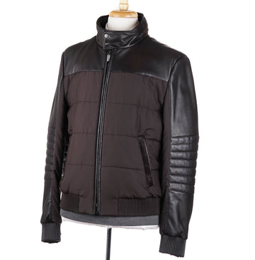 Brioni Quilted Down Jacket with Alligator Details