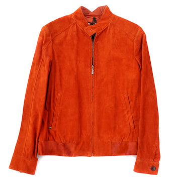 Brioni Orange Suede Moto Jacket