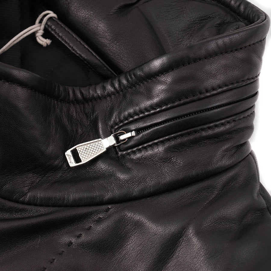 Brioni 2-in-1 Leather Jacket with Detachable Sleeves