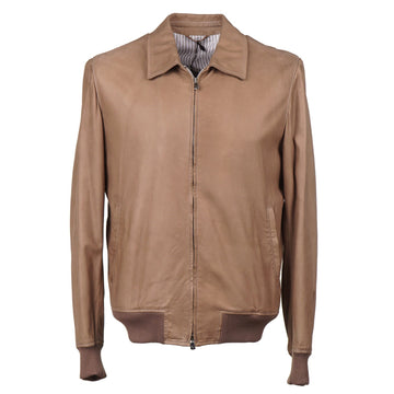 Cesare Attolini Nubuck Leather Bomber Jacket - Top Shelf Apparel