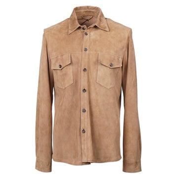 Cesare Attolini Nappa Suede Shirt-Jacket - Top Shelf Apparel