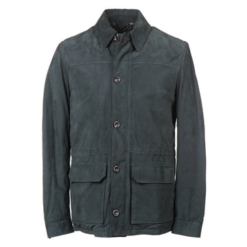 Cesare Attolini Down-Filled Nubuck Leather Jacket - Top Shelf Apparel