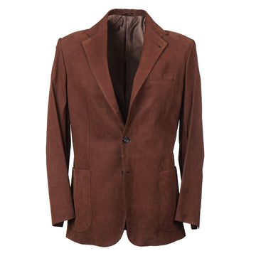 Cesare Attolini Blazer in Matte Nubuck Leather - Top Shelf Apparel