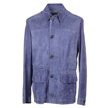Cesare Attolini Nappa Suede Field Jacket - Top Shelf Apparel