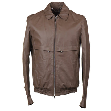 Cesare Attolini Lightweight Matte Leather Jacket - Top Shelf Apparel