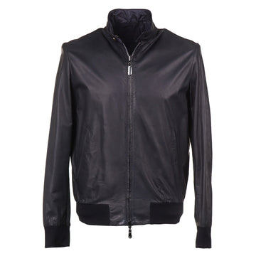 Cesare Attolini Reversible Lightweight Leather Jacket - Top Shelf Apparel