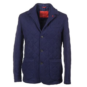 Isaia 'Aqua Jersey' Quilted Wool-Blend Jacket - Top Shelf Apparel