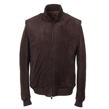 Cesare Attolini Wool-Lined Suede Bomber Jacket - Top Shelf Apparel