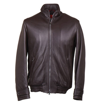 Isaia Deerskin Leather Bomber Jacket - Top Shelf Apparel