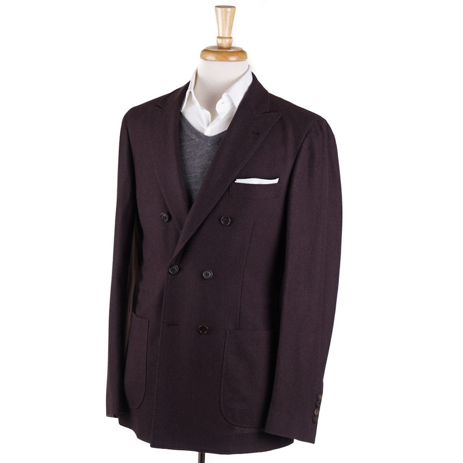 Brunello Cucinelli Plum Cashmere-Silk Sport Coat - Top Shelf Apparel