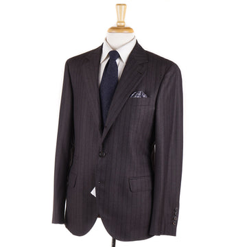 Brunello Cucinelli Brown Nailhead Wool Suit