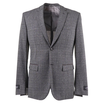 Belvest Wool Suit with Leather Details