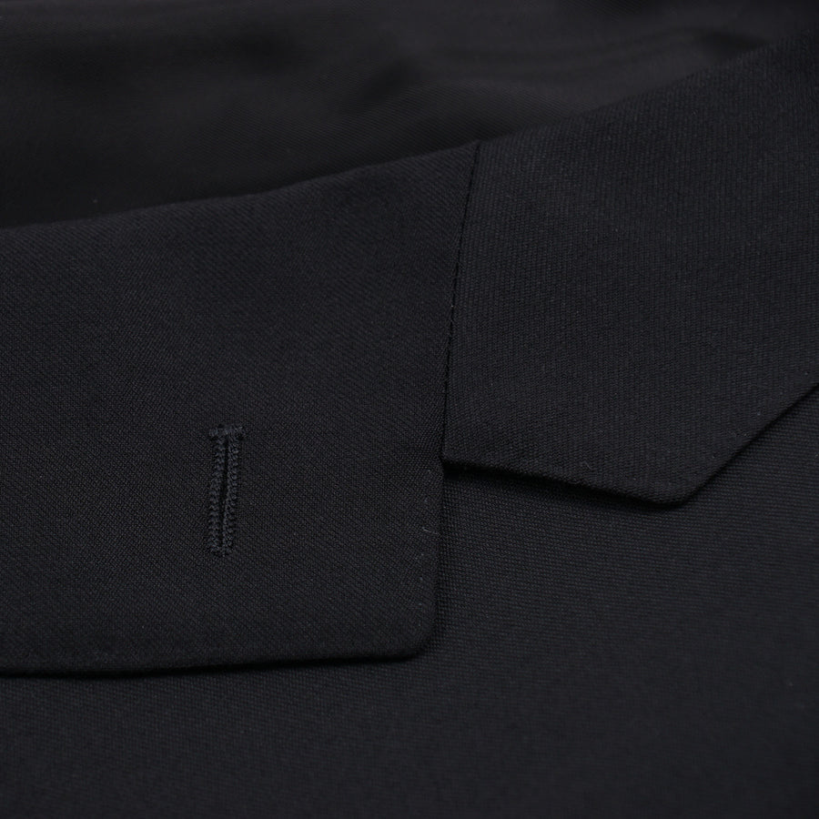 Canali Standard-Fit Solid Black Wool Suit - Top Shelf Apparel