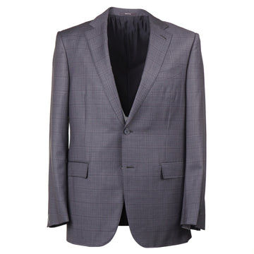 Ermenegildo Zegna Gray Check 'Trofeo' Wool Suit - Top Shelf Apparel
