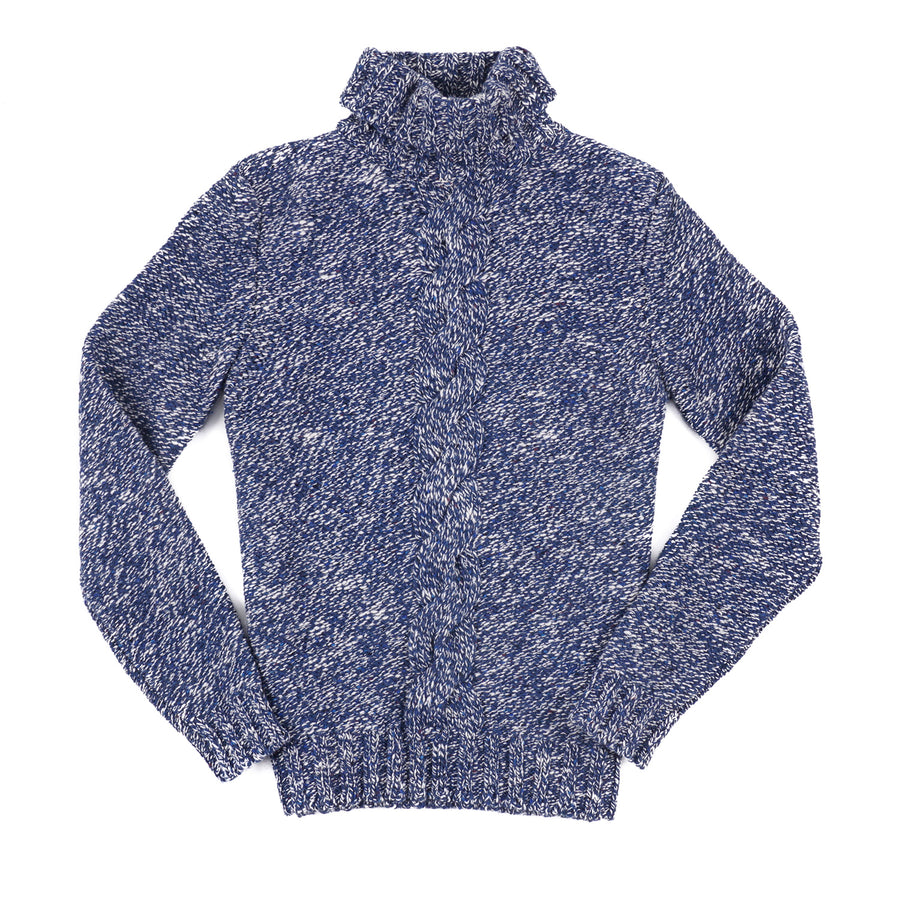 Isaia Plush Wool Sweater with Cable Detail - Top Shelf Apparel