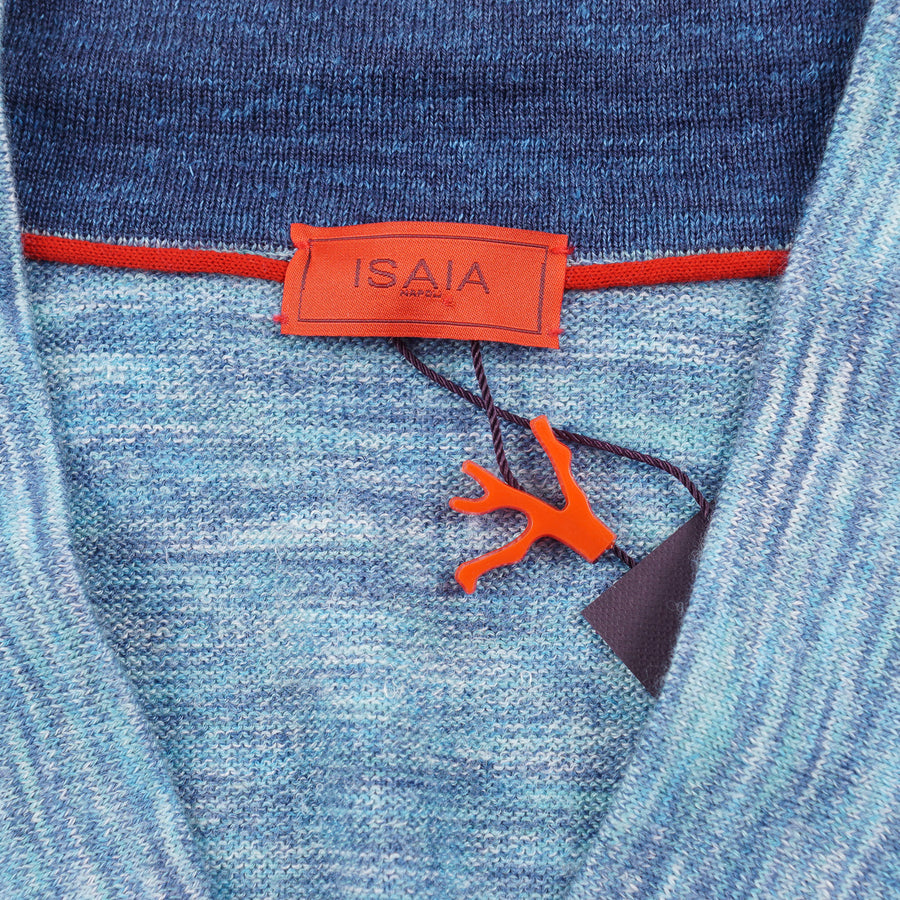 Isaia Slim-Fit Superfine Wool-Silk-Linen Sweater - Top Shelf Apparel