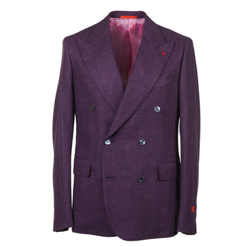 Isaia Patterned Wool and Silk Sport Coat