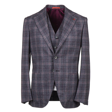 Isaia 'Marechiaro' Three-Piece Flannel Wool Suit