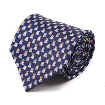 Salvatore Ferragamo Frog Prince Print Tie - Top Shelf Apparel