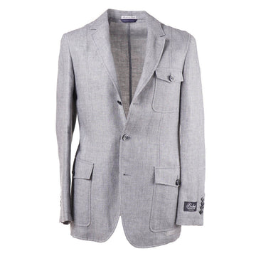 Belvest Unlined Linen and Wool Sport Coat