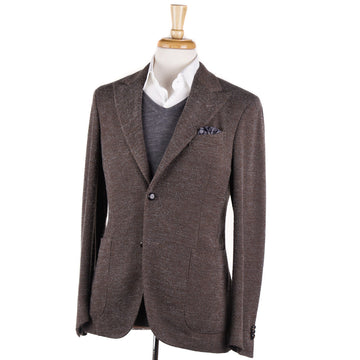 Boglioli Brown-Gray Patterned Wool Sport Coat