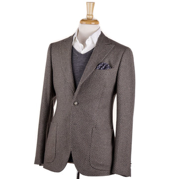 Boglioli Gray and Tan Patterned Wool Sport Coat