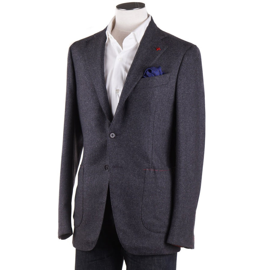 Isaia 'Tenero' Slim-Fit Gray Melange Wool Sport Coat