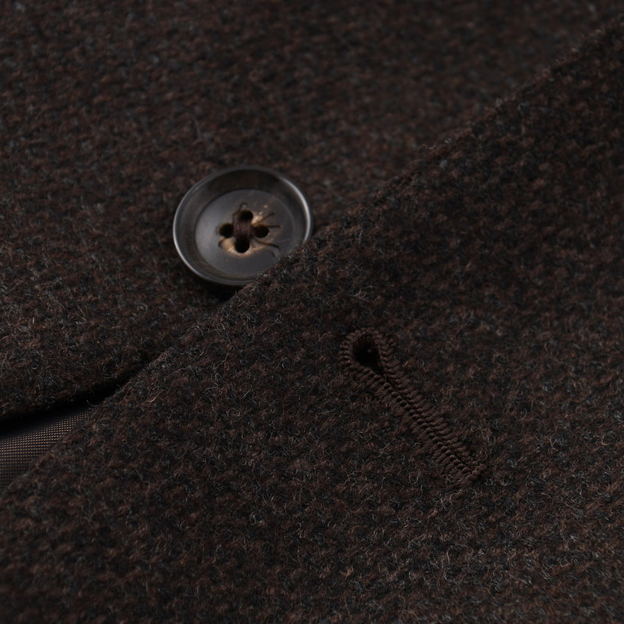 Isaia Chocolate Brown Wool and Cashmere Sport Coat
