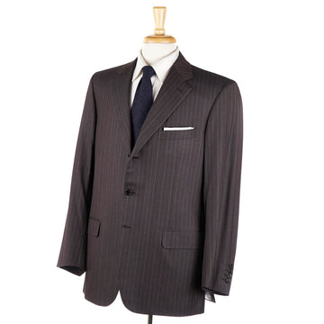 Brioni Brown-Blue Stripe Super 180s Suit