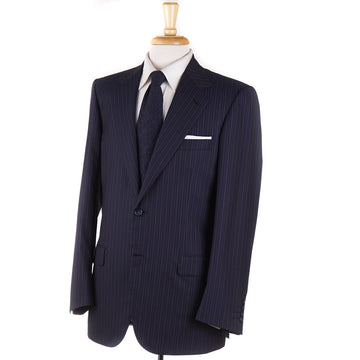 Brioni Navy and Violet Stripe Super 180s Suit