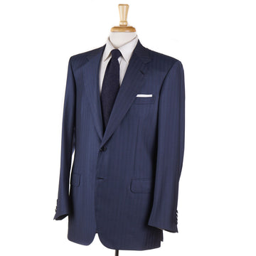 Brioni Petrol Blue Herringbone Super 150s Suit - Top Shelf Apparel