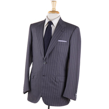 Brioni Medium Gray Stripe Super 180s Wool Suit