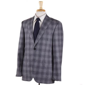 Oxxford 'Randolph' Gray Plaid Flannel Wool Suit