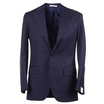 Orazio Luciano Navy Stripe Wool Suit - Top Shelf Apparel