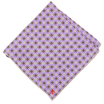 Isaia Reversible Printed Silk Pocket Square - Top Shelf Apparel