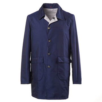 Isaia 'Aqua Canvas' Reversible Overcoat - Top Shelf Apparel