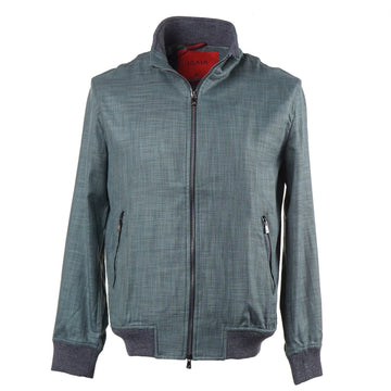 Isaia Cotton-Wool-Silk Bomber Jacket - Top Shelf Apparel
