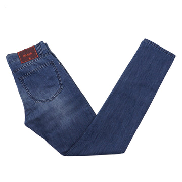 Isaia Slim-Fit Cotton and Linen Jeans - Top Shelf Apparel