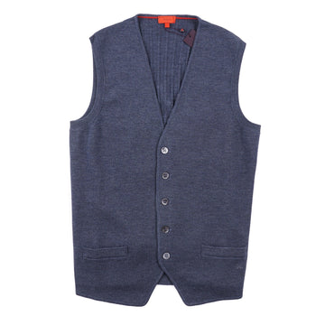 Isaia Merino Wool Cardigan Sweater Vest - Top Shelf Apparel