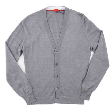 Isaia Superfine Silk and Cotton Cardigan Sweater - Top Shelf Apparel