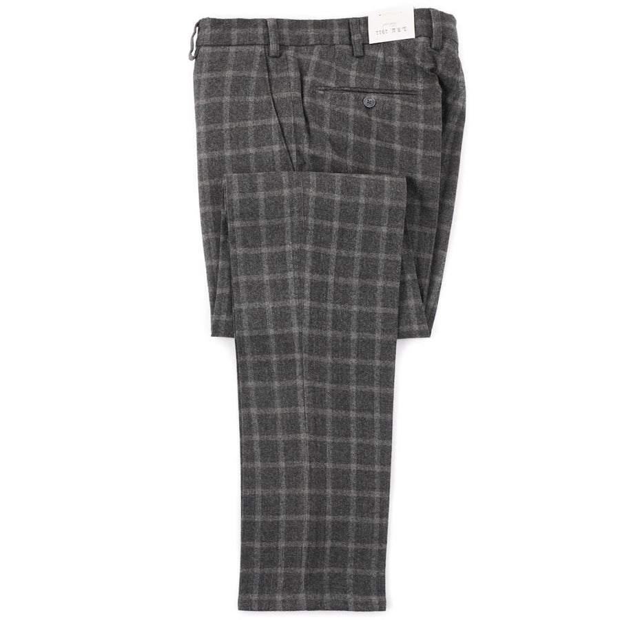 L.B.M. 1911 Sage Green Check Wool Pants