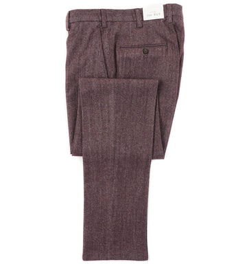 L.B.M. 1911 Gray-Burgundy Melange Wool Pants