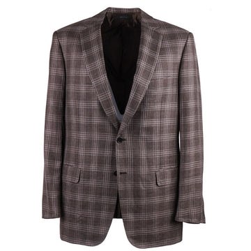 Brioni Layered Check Wool-Silk-Linen Sport Coat