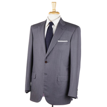 Brioni Gray and Pink Striped Wool-Silk Suit