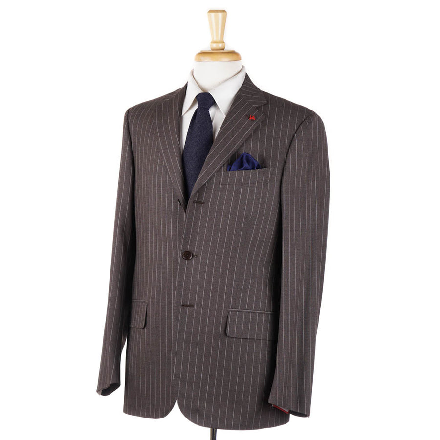 Isaia Chocolate Brown 'Aqua 3-Ply' Suit
