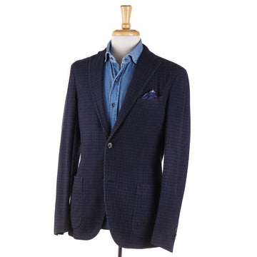 Boglioli Dark Blue Check Wool Sport Coat