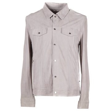 Barba Napoli Lambskin Suede Shirt-Jacket - Top Shelf Apparel