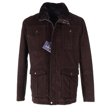 Barba Corduroy Jacket with Down-Filled Lining
